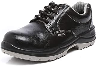 Agarson High Quality ISI Mark Genuine Leather Steel Toe Dual Density PU Moulded Engineers/Labours Safety Shoes; BEETEL ISI
