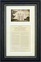 The Family: A Proclamation to the World with Antiqued Salt Lake City Temple Print Framed - LDS Wall Art - 16
