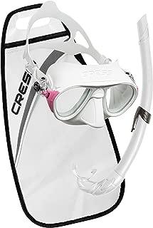 Cressi Calibro Corsica Mask & Snorkel Set - White/Pink