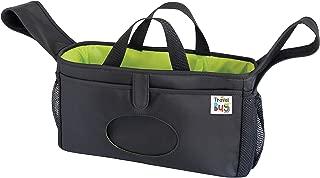 Travel Bug Adjustable & Secure Stroller & Shopping Cart Organizer - Black