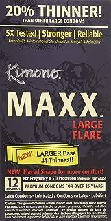 Kimono MAXX Large Flare Latex Condoms, 12 Condoms