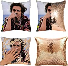 MODCON Harry Pillow Covers Funny Sequin Pillow Case Harry Funny Gag Gifts Magic Reversible Decorative Cushion Cover (NO Pi...