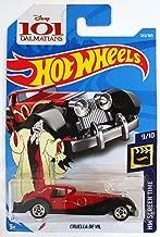Hot Wheels 2018 50th Anniversary HW Screen Time Disney's 101 Dalmations Cruella De Vil 343/365, Red