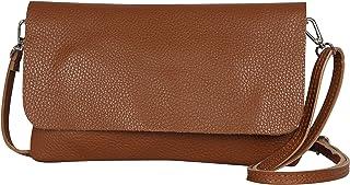 AmbraModa GLX11 – Bolso bandolera Carteras de mano clutch para mujer, de piel auténtica