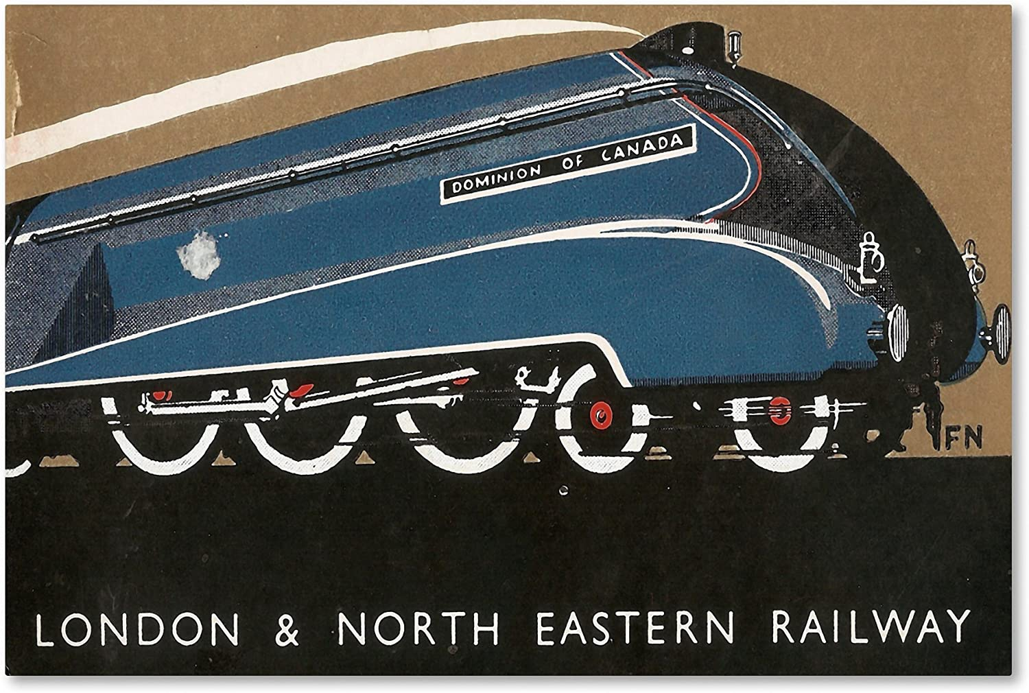 London Eastern Rail by Vintage Apple Collection, 12x19Inch