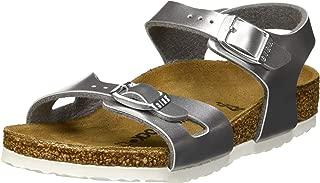Rio Kids Electric Metallic Silver Birko-Flor Infant Strap Sandals