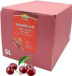 Bleichhof Sauerkirschsaft - 100% Direktsaft OHNE Zuckerzusatz, Bag in box 1x 5l