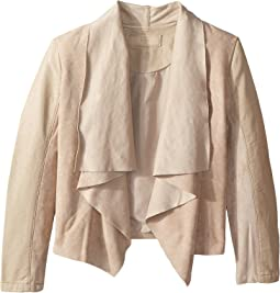 Faux Suede Drape Front Jacket in Sunny Days (Big Kids)