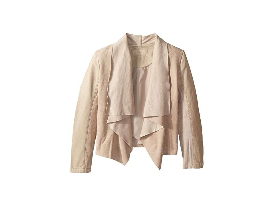 Blank NYC Kids Faux Suede Drape Front Jacket in Sunny Days (Big Kids) (Sunny Days) Girl