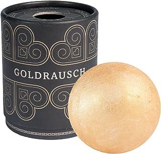 Deluxe badbomb gulddraperi, 180 gram tung XXL badkula med vårdande sheasmör, vegan och djurförsökfri