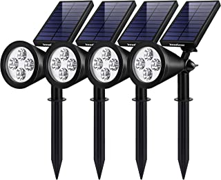 Best InnoGear Solar Lights Outdoor, Upgraded Waterproof Solar Powered Landscape Spotlights 2-in-1 Wall Light Decorative Lighting Auto On/Off for Pathway Garden Patio Yard Driveway Pool, Pack of 4 (White) Review