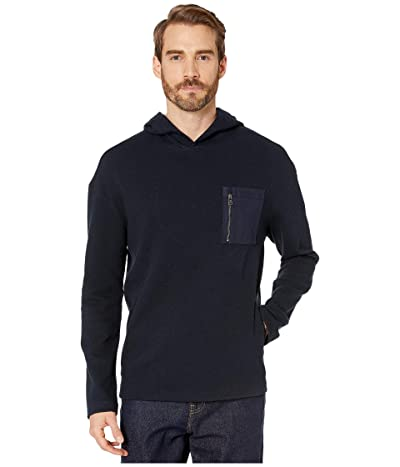 John Varvatos Collection Easy Fit Textured Hoodie with Chest Pocket K3210V4 (Midnight) Men