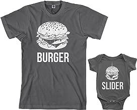 Threadrock Burger & Slider Infant Bodysuit & Men's T-Shirt Matching Set
