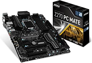 MSI Z270 PC Mate - Placa Base Pro (Chipset Intel Z270, DDR4 Boost, Audio Boost, VR Ready, Military Class V)