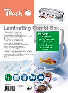 Peach Laminating Combi-Box, 25 Different laminator Pouches