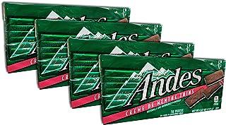 Andes Creme De Menthe Thins, 4.67-ounce -28 Pieces Each Pack (Pack 4)