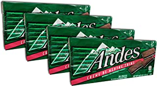 Andes Creme De Menthe Thins, 4.67-ounce -28 Pieces Each Pack (Pack 4)