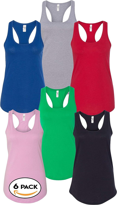 Next Level Bundle Racerback Tank Tops for Women Bulk - Assorted Multipack Color Set