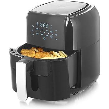 Emerio AF 123544 SmartFryer, AirFryer, Heißluftfritteuse, Frittieren mit heißer Luft ohne zusätzliches Öl [] 5.5 Liter Volumen, 1400 Watt, Schwarz