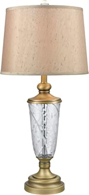 """Dale Tiffany SGT17167 Cathedral Table Lamp, 30"""", Crystal"""