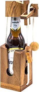 Adult Games for Many People of Unique Wooden Beer Puzzles Will Giving You Fun Party Game for Adults to Challenges Brain Teaser and This Can Be Funny Gifts Games Ever for Drinker Lovers