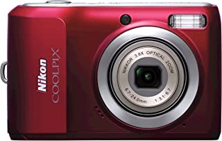 Nikon Coolpix L20 10MP Digital Camera with 3.6 Optical Zoom and 3 inch LCD, (Deep Red)