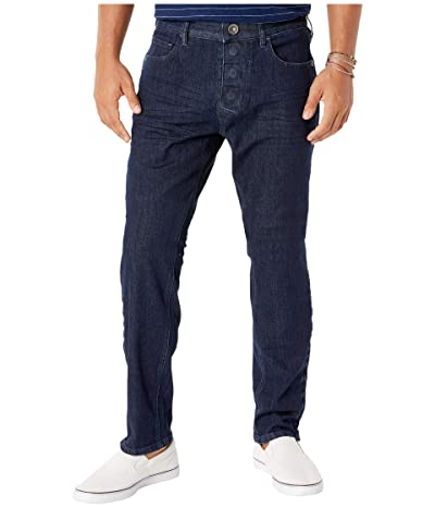 Seven7 Adaptive Adaptive Slim Athletic Fit Jeans w/ Magnetic and Micro Velcro(r) Closure in Blue Rinse Men