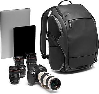 Manfrotto MB MA2-BP-T Advanced² Travel - Mochila para cámara y portátil cámaras DSLR y sin Espejo + Objetivos estándar con Sistema Divisor Acolchado Convertible Transporte trípode Tela revestida