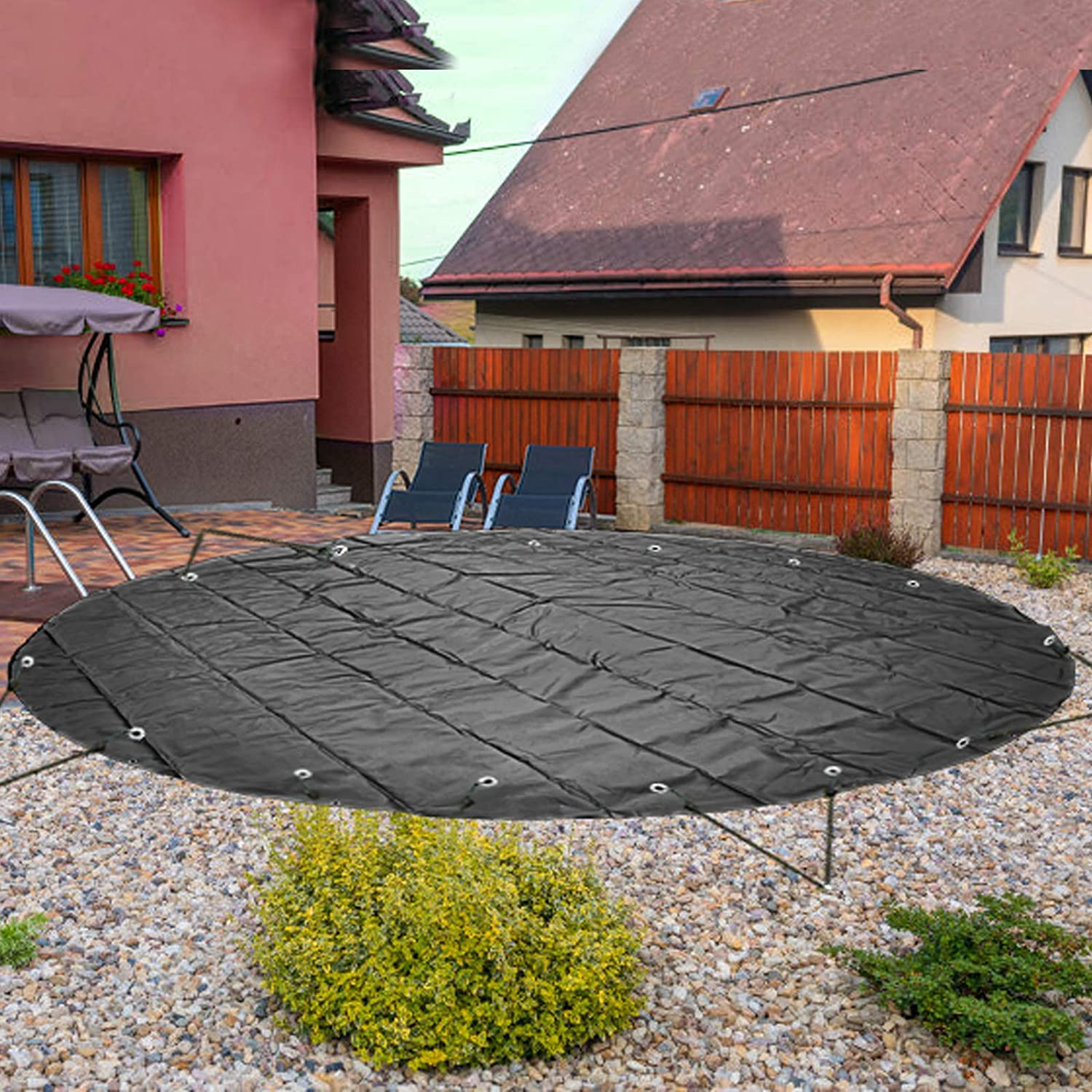 VEVOR Pool Surprise price Safety Cover 13 ft Max 78% OFF Charco In-ground Dia.