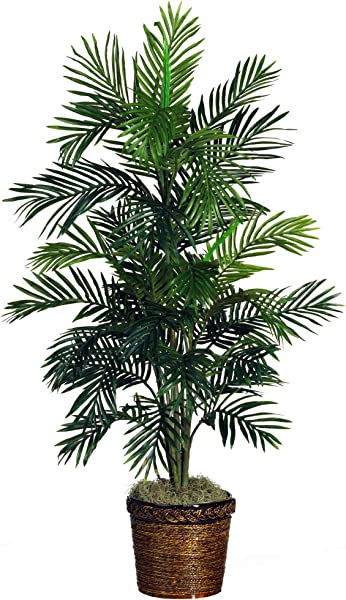 Nearly Natural 5263 0308 56in Areca Palm Silk Tree With Basket