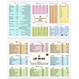 Air Fryer Magnetic Cheat Sheet Cookbook Cooker Accessories Magnet Cooking Times Chart Quick Reference Guide for 66 Common Prep Functions and Kitchen Unit