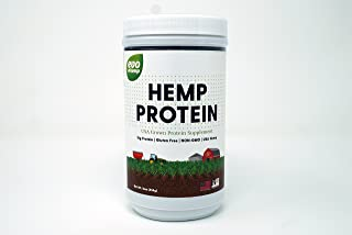 Evo Hemp 50% Protein Powder (1 lb) U.S. Hemp Hearts, Plant Based Protein Supported by Raw Enzymes, Omega 3s and Omega 6s