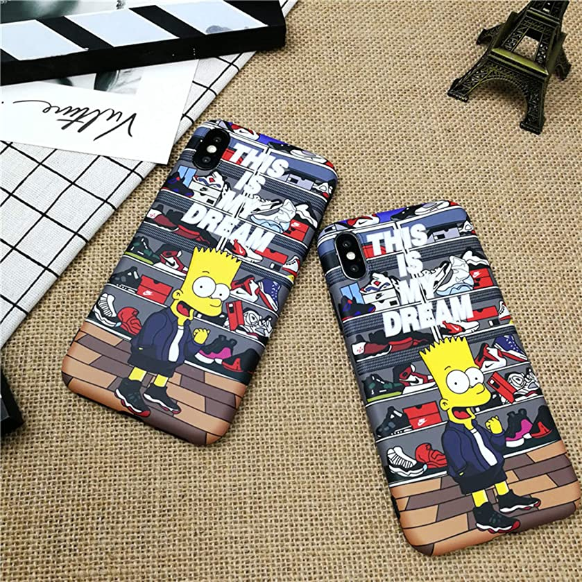 iPhone Case Cartoon Boy Air Jordan Shoes Case for iPhone X XS MAX XR 10 8 7 6 6S Plus Soft Silicone Phone Cover Case (iPhone XR)