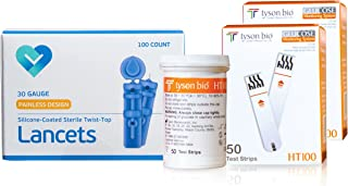 O'WELL Tyson HT100 Blood Glucose Test Strips, 100 Count + 100 Lancets