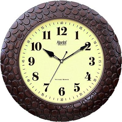 Ajanta Quartz 14 Inch Vintage Plastic Wall Clock