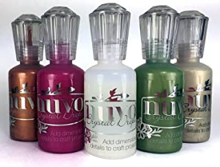 Nuvo Crystal Drops - Seasonal Set - Rubarb Crumble, Bottle Green, Copper Penny, Pale Gold & Morning Dew