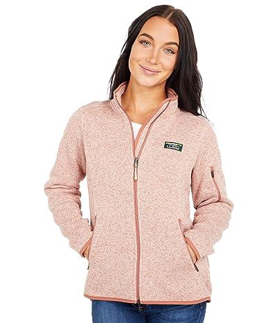 L.L.Bean Petite Sweater Fleece Full Zip Jacket (Adobe Rose) Women