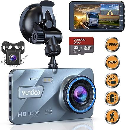 "$58 Get Dual Dash Cam Car Camera - Contain 32GB SD Card,Full HD 1080P Dash Camera for Cars,4""IPS Screen Dual Wide Angle Lens Car Dash Camera,G-Sensor,Cycle Recording,Parking Monitoring.(2019 Upgraded Version)"