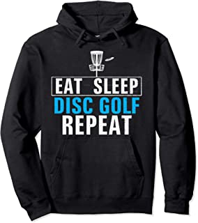 Vintage Eat Sleep Disc Golf Repeat Funny Sports Love Gift Pullover Hoodie