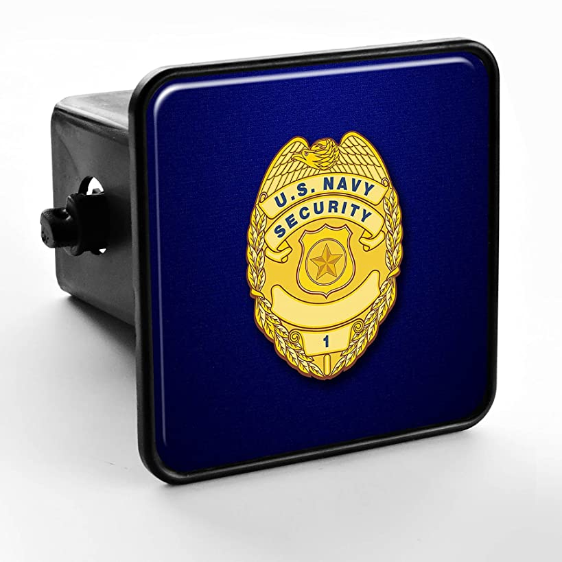 ExpressItBest Trailer Hitch Cover - US Navy Security, Officer Badge