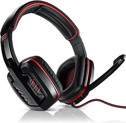 CSL - 7.1 Cuffie da Gioco USB con Scheda Audio Integrata | Virtual 7.1 Surround Sound | PC Comfort Gaming Headset| Telecomando Via Cavo | Colore: Nero/Rosso - Trova i prezzi più bassi