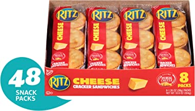 Ritz Cheese Cracker Sandwiches - 48 Individual Snack Packs