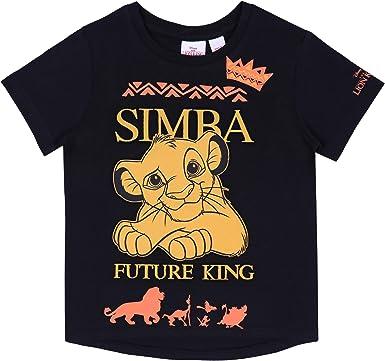 Camiseta Negra, t-Shirt Simba León Disney