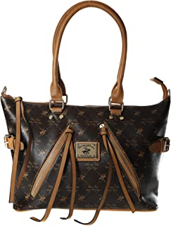 Beverly Hills Polo Club Tote Bag for Women- Monogram/Brown