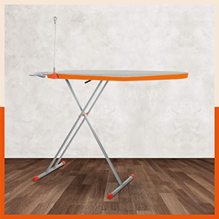 Bathla X-Pres Ace Prime - Foldable Ironing Board with Aluminised Ironing Surface (Silver & Grey)
