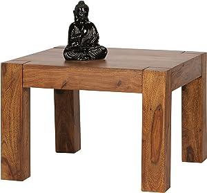 Wohnling WL1.213 Sheesham Tavolino da salotto in legno massello 60 x 60 cm