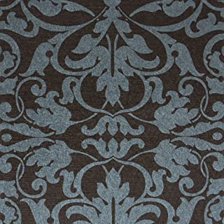 Swirls, Black/Dark Blue Damask Modern Wallpaper for Walls - Double Roll - by Romosa Wallcoverings LL7566