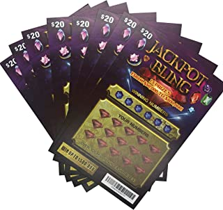 Pack of 8 Fake Lottery Tickets - Worlds Most Realistic...