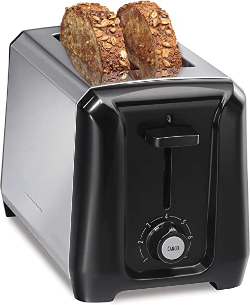 Hamilton Beach 22671 2 Slice Extra Wide Toaster With Shade Selector Toast Boost Slide Out Crumb Tray Auto Shutoff And Cancel Button Stainless Steel