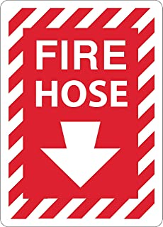 ZING 1893S Zing Safety Sign, Fire Hose with Arrow, 10